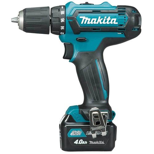 Makita DF331DSMJ Akkuporakone 10.8V, 2x4.0Ah, 30/14 Nm, 1,3kg, LED-valo, 10mm istukka