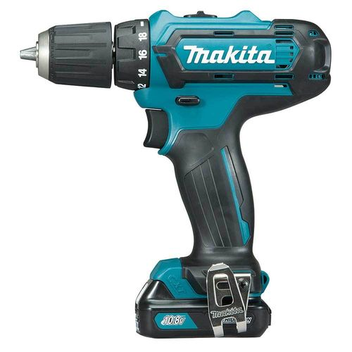 Makita DF331DSAJ porakone 10.8V, 2x2.0Ah, 30/14 Nm, 1,1kg, LED-valo, 10mm istukka