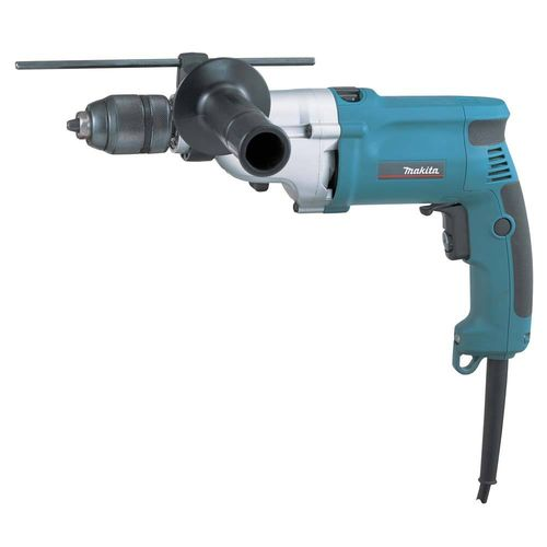 Makita HP2051FJ iskuporakone 720W, 0-1200/0-2300 r/min, pikaistukka 13mm, LED-valo, 36Nm/15Nm