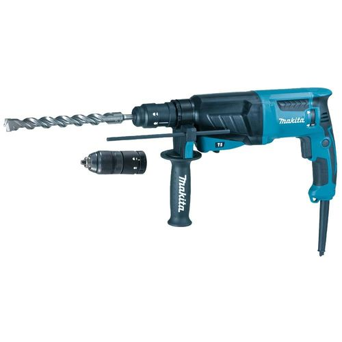 Makita HR2630TJ poravasara SDS-Plus, 800W, bet. 26mm, 3,0kg, 2,4J, vaihtoistukka