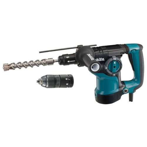 Makita HR2811FT poravasara SDS-Plus, 800W, bet. 28mm, 3,6kg, 2,9J, vaihtoist. ja LED-valo